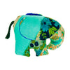 Teal Silk Patchwork Large Elephant