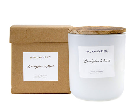 Large Riau Candle - Eucalyptus & Mint
