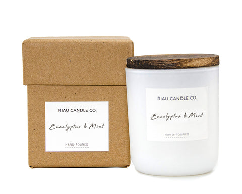 Small Riau Candle - Eucalyptus & Mint