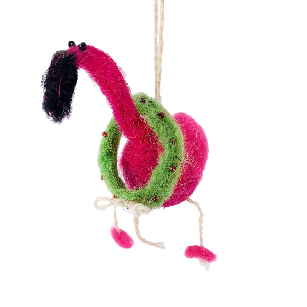 Flamingo Wreath Ornament