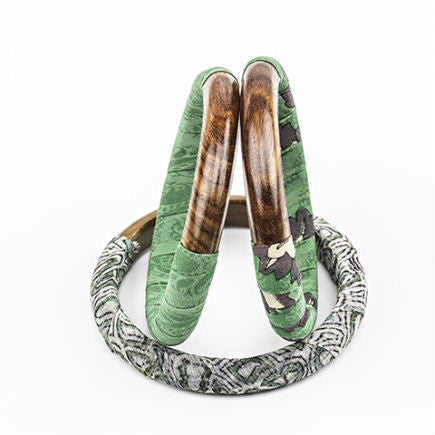 Sari Wrapped Bangle - Jade