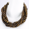 Shakti Beaded Necklace in Brown