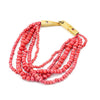 Shakti Beaded Necklace in Coral