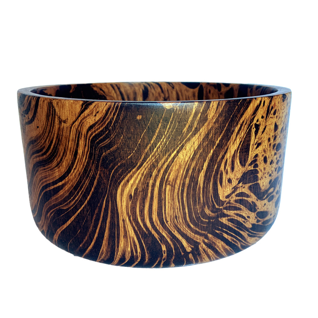 Mango Wood Bowl with Flat Sides