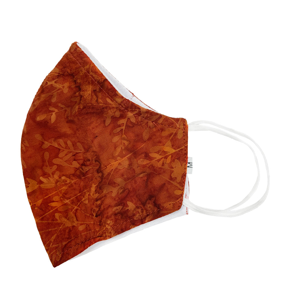 Batik Cotton Face Mask - Autumn Harvest (M)