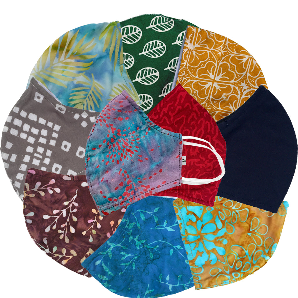 Batik Face Mask - Assorted Styles - 10 Pack