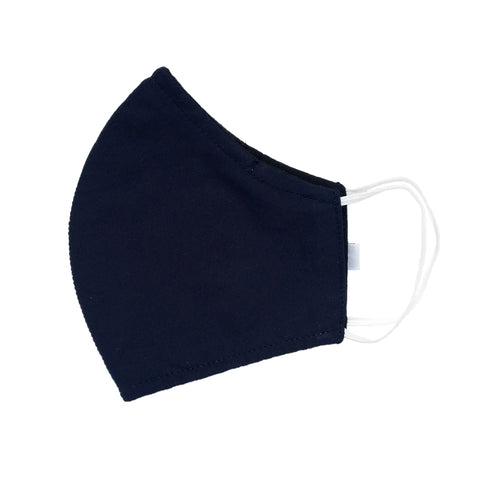 Batik Cotton Face Mask - Navy Solid (L)