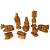 9-Piece Olive Wood Nativity Set