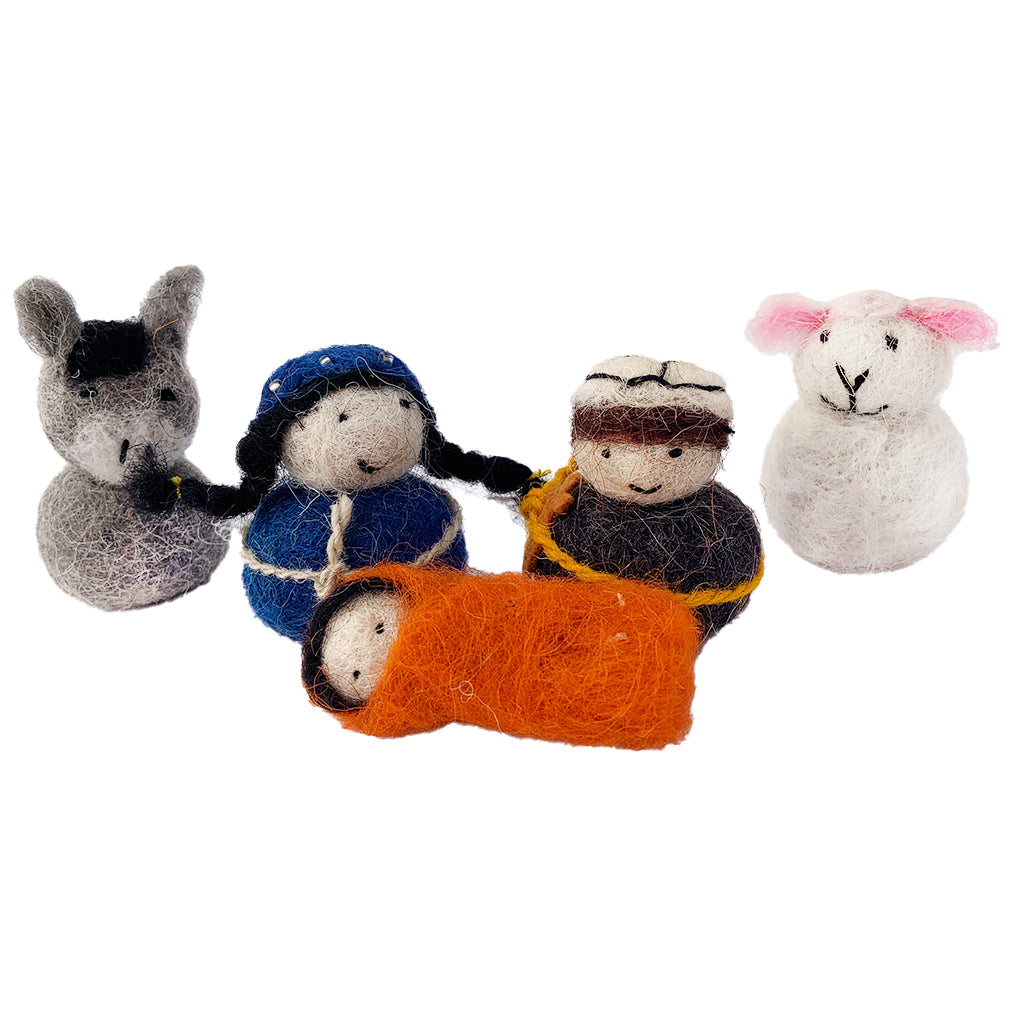 Georgian Felted Nativity - Five Piece Set