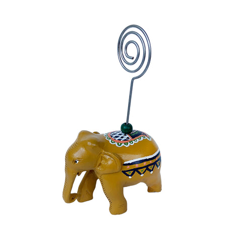 Painted Elephant Photo Holder - Assorted Colors