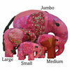 Pink Silk Patchwork Large Elephant
