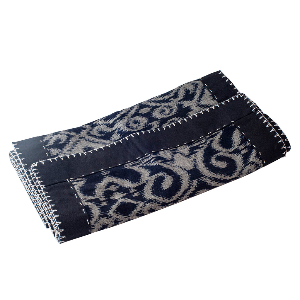 Black Adras Table Runner