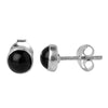 Black Onyx Round Earrings