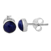 Lapis Lazuli Round Earrings