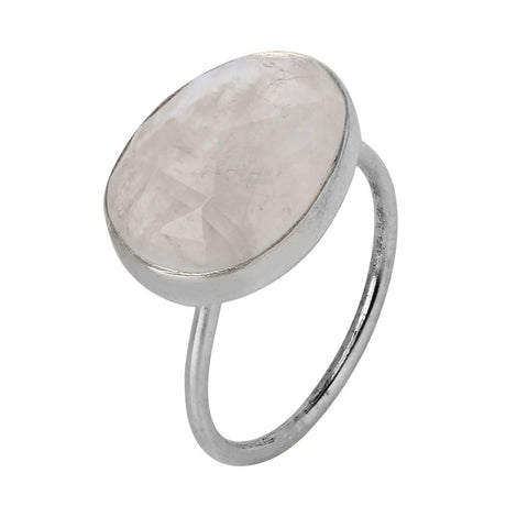 Moonstruck Sterling Silver Ring 7.5