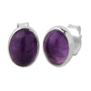 Amethyst Oval Earrings