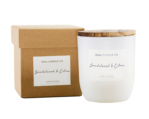 Medium Riau Candle - Sandalwood & Citrus