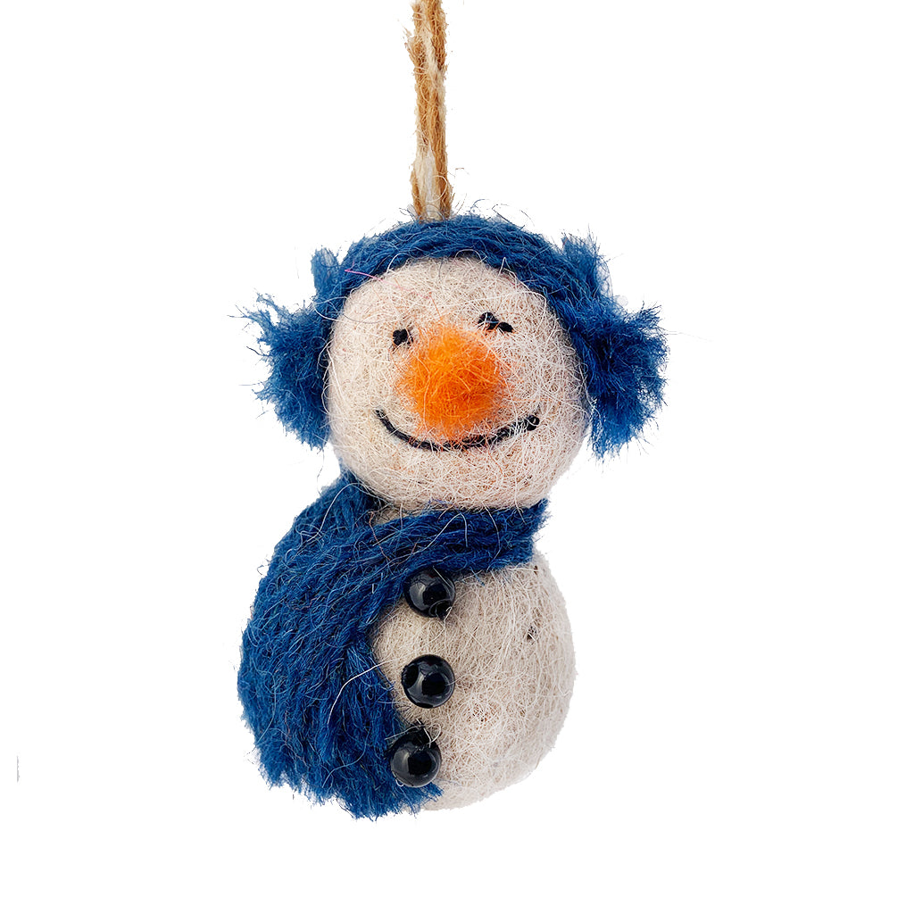 Snowman Felted Ornament