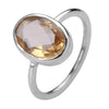 Citrine Sterling Silver Ring 6.5