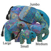 Teal Silk Patchwork Small Elephant