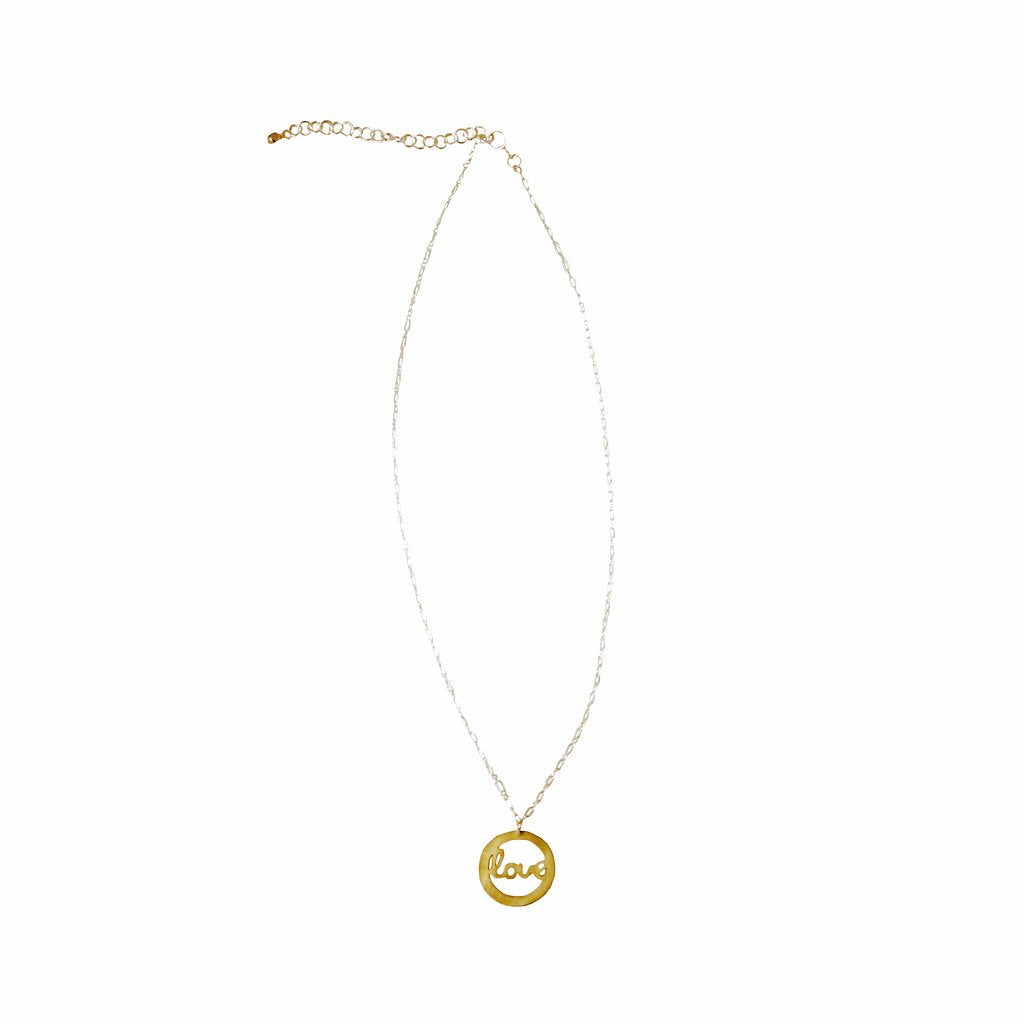 Circle of Love Brass Necklace