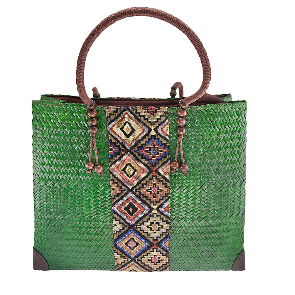 Emerald Papyrus Large Tote