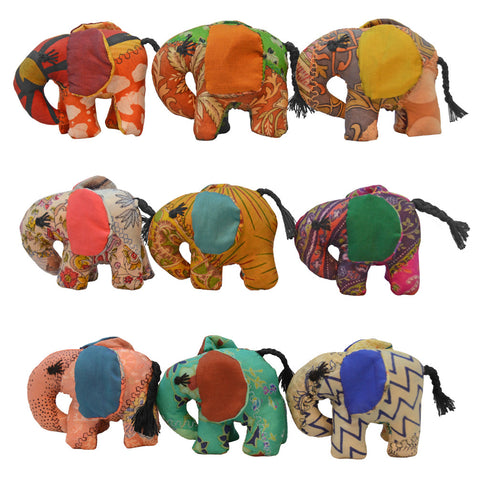 Mini Patchwork Elephant - Various Colors