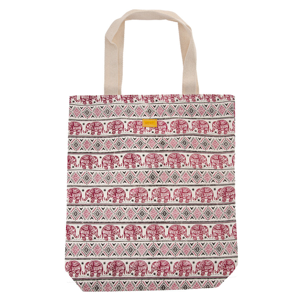 Red Thai Elephant Tote