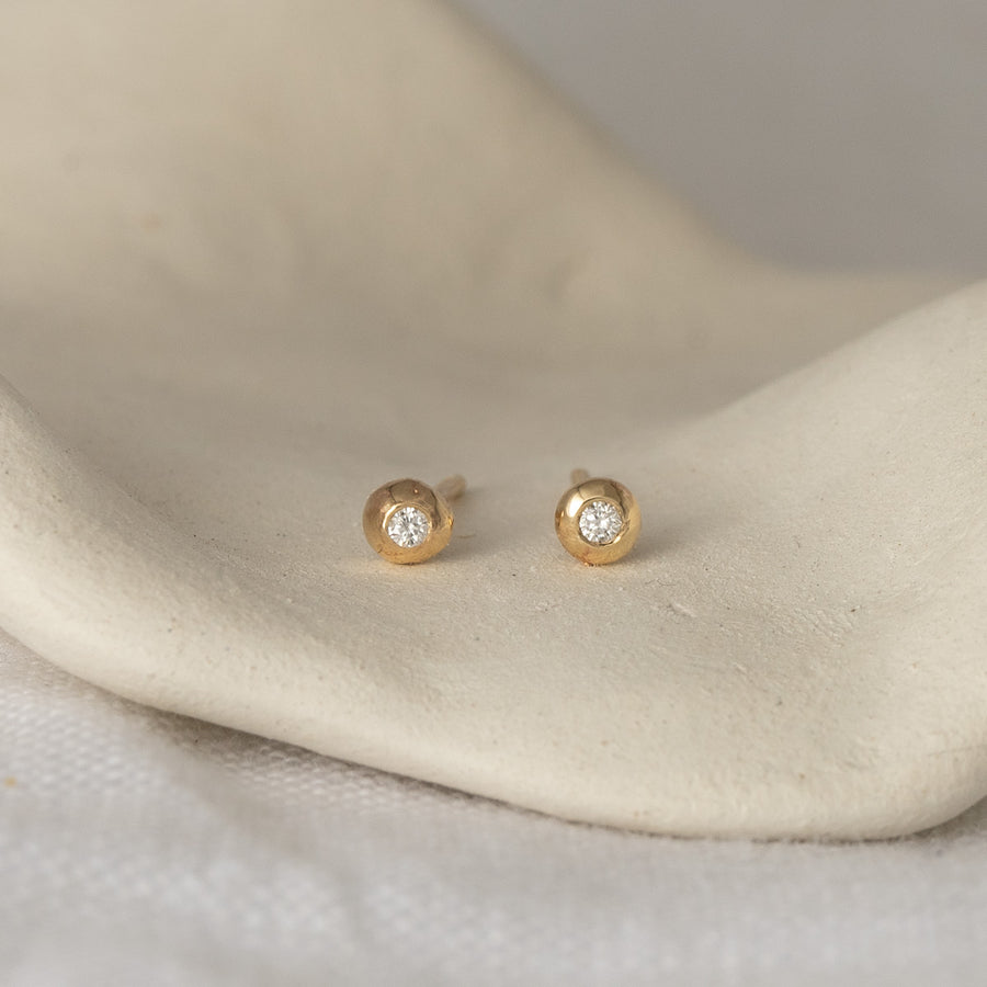 Mini Crush Diamond Studs