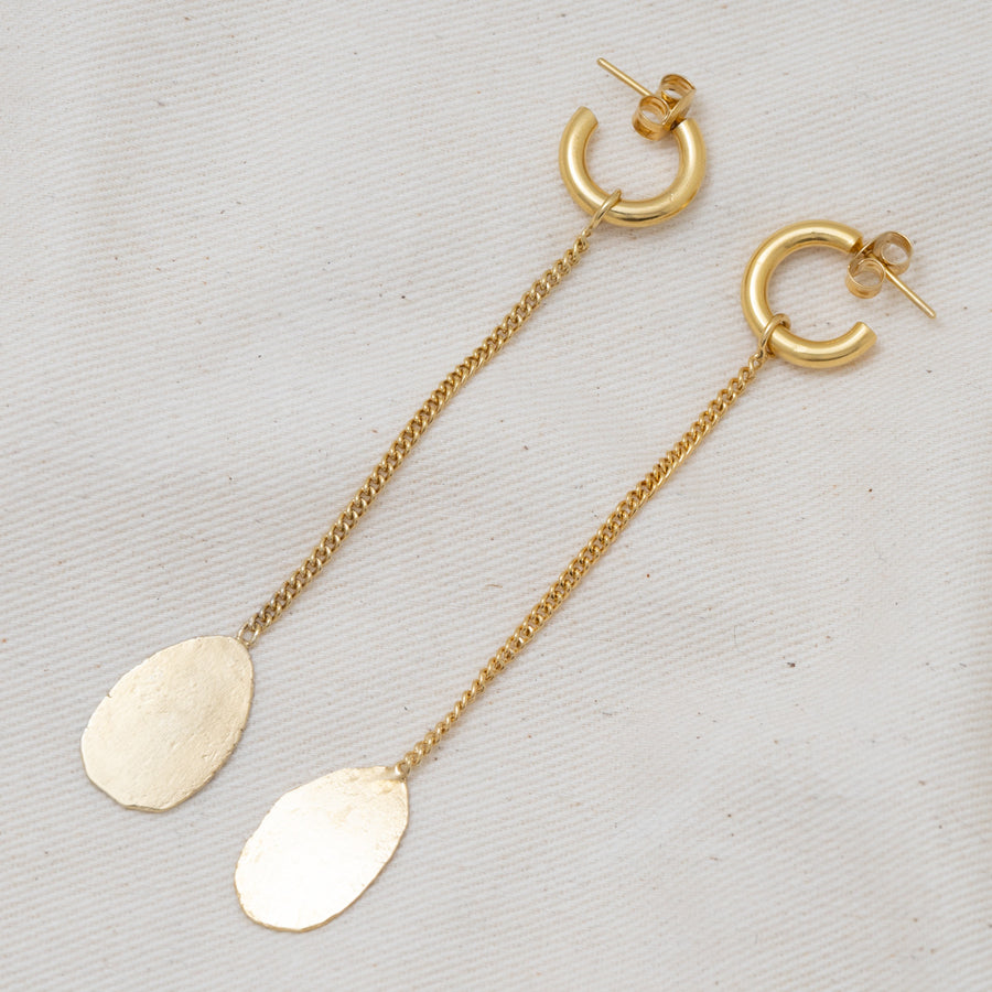 Grounding Hoops + Float Charm Pair