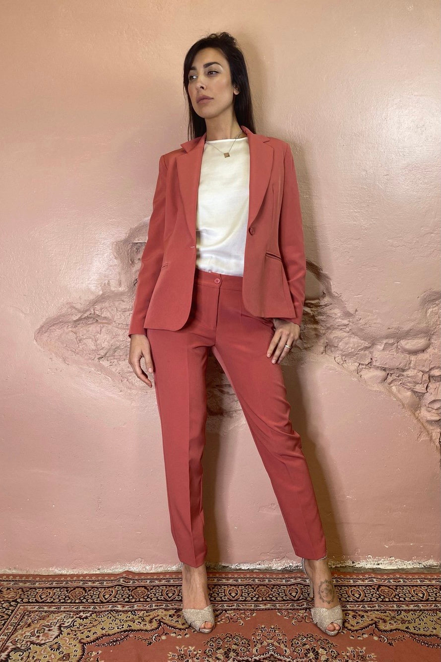 Blazer monopetto blush