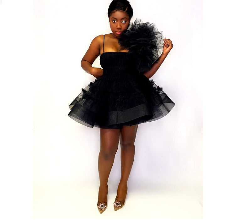 Shirley Tulle Dress (Black)