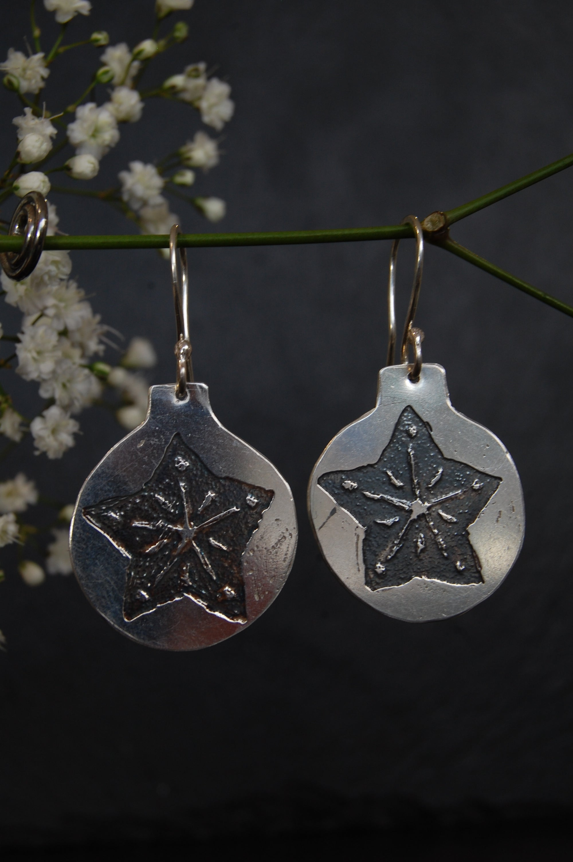 Lesley Ross Acid-etched Star Bauble Drops