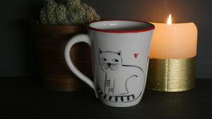 Lucie Sivicka - Hand Thrown Cat Love Mug