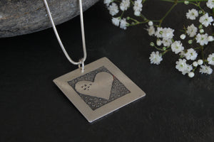 Lesley Ross Large Square Heart Pendant