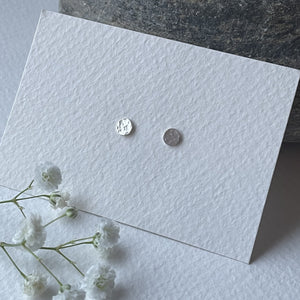 Zoe Howarth Tiny Round Silver Stud Earrings