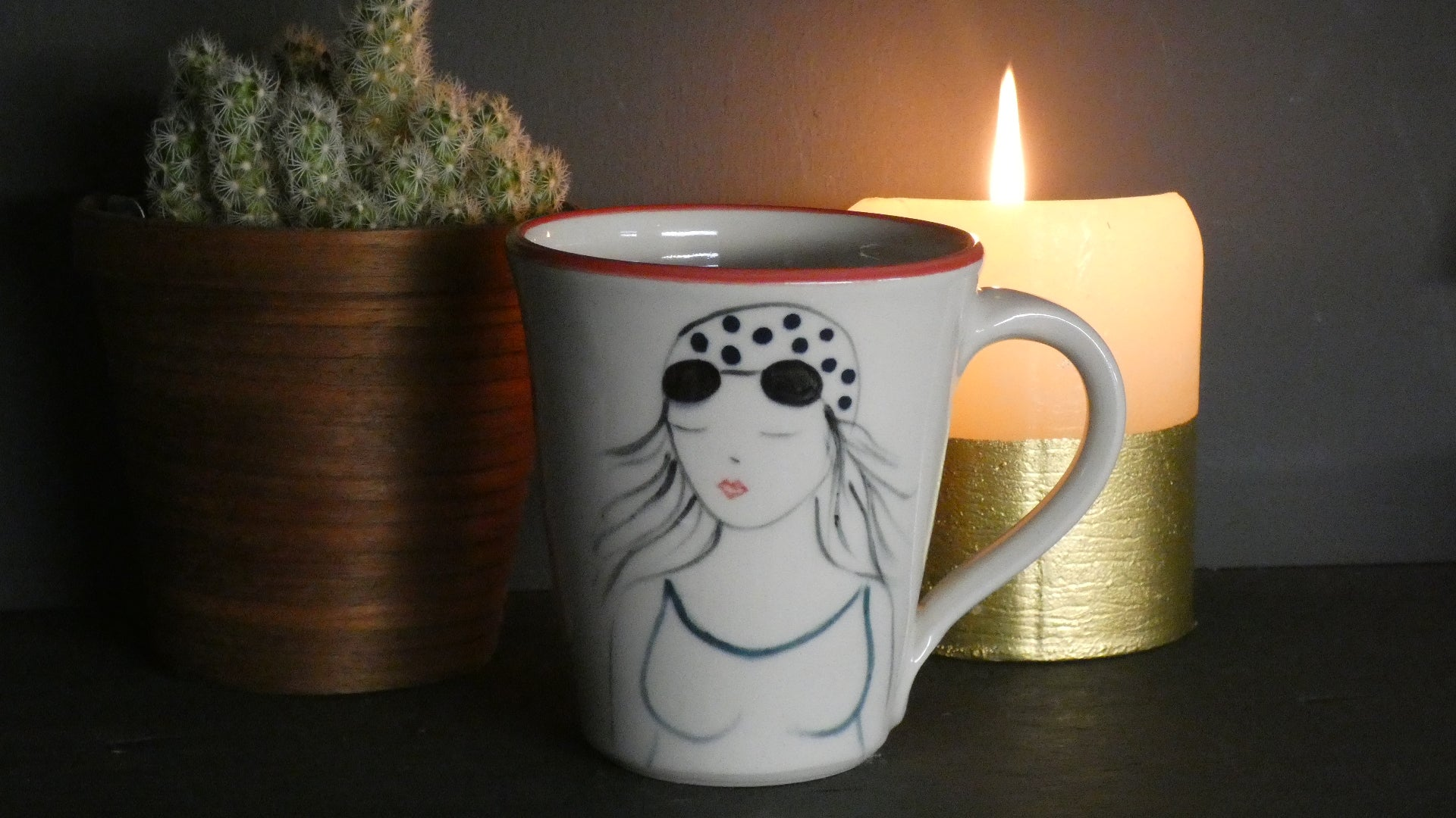 Lucie Sivicka - Hand Thrown Swimmers Mug