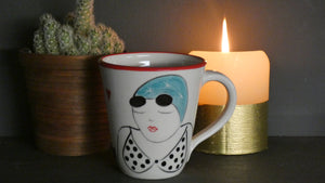 Lucie Sivicka - Hand Thrown Swimmer and Seal Mug