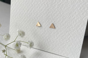 Zoe Howarth Tiny Triangle 14kt Gold Filled Stud Earrings