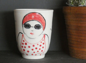 Lucie Sivicka - Hand Thrown Swimmer Cup