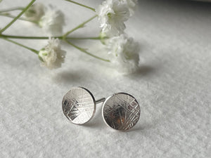 Zoe Howarth Tiny Round Silver Cup Stud Earrings