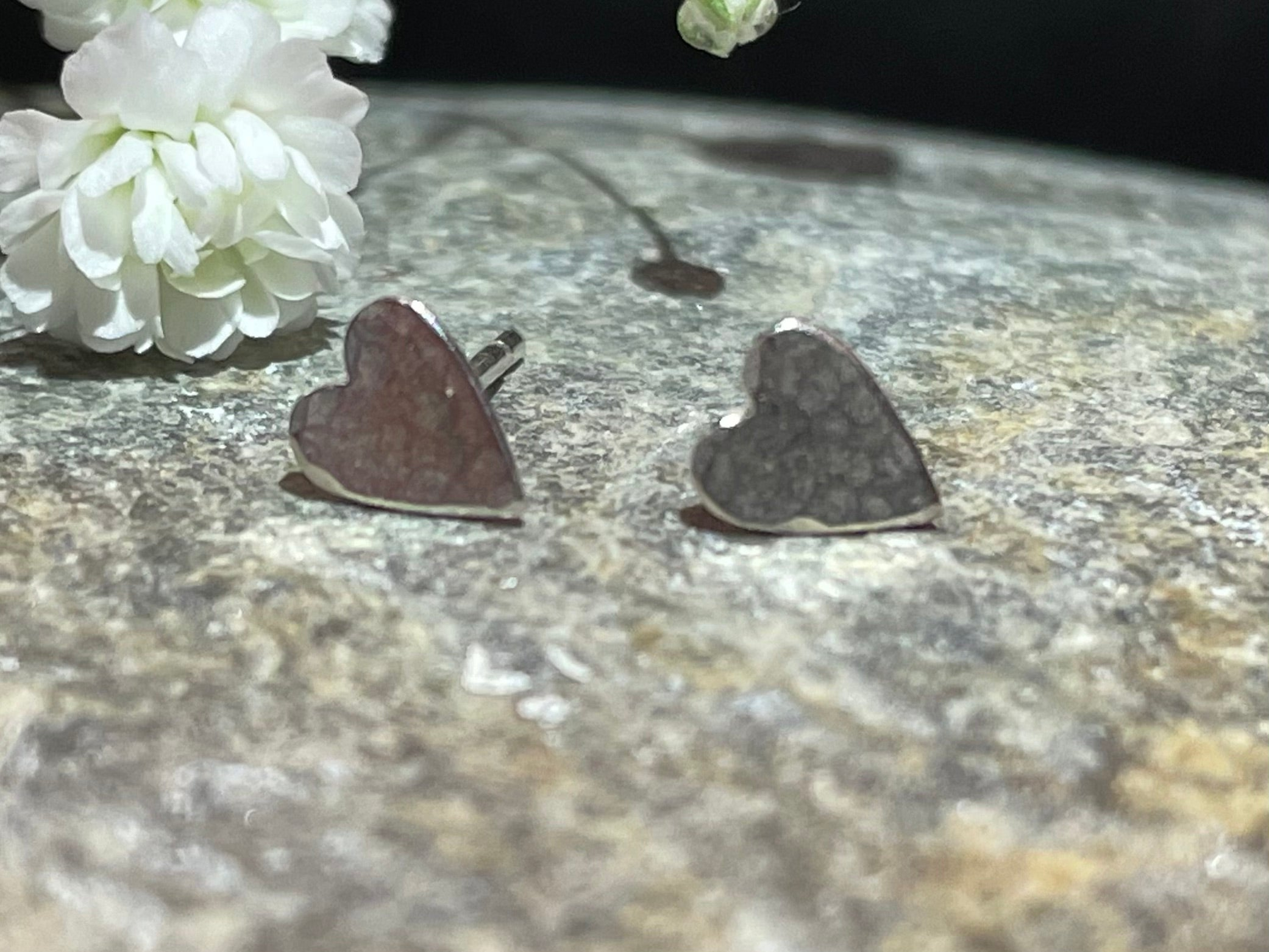 Zoe Howarth Tiny Heart Silver Stud Earrings