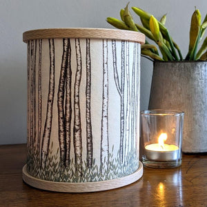 Birch Trees Candle Cover