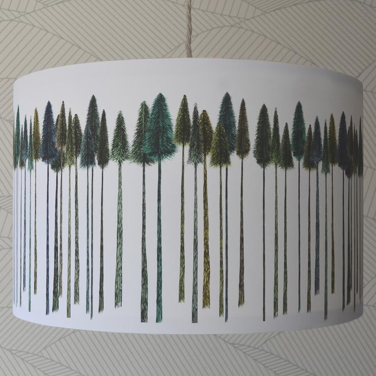 Green Trees Lampshade