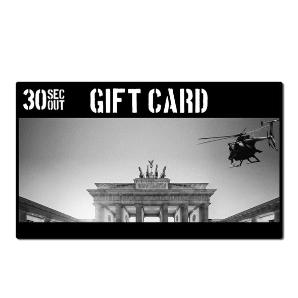 30SECOUT Gift Card