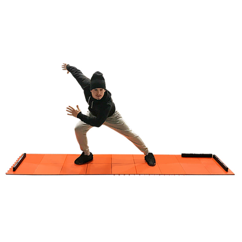 Adjustable Sliding Board - Indoor and Outdoor Training Tiles with Stoppers, Booties, Rubber Mat & App - MY SLIDEBOARD PRO