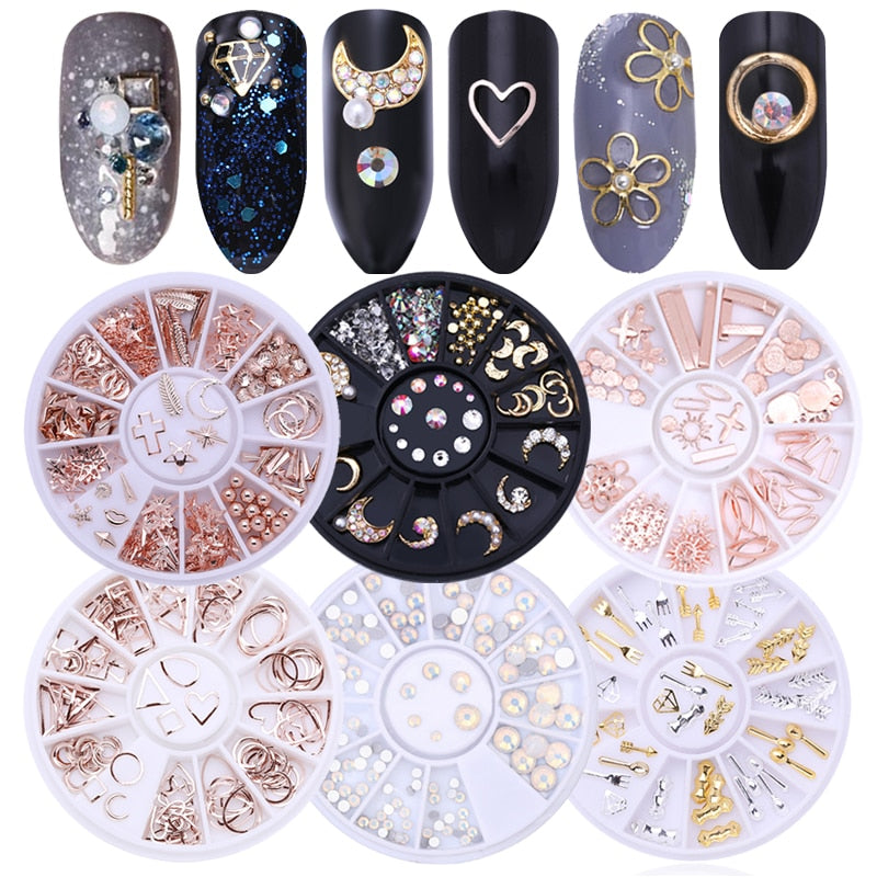 Mixed Color Nail Rhinestones