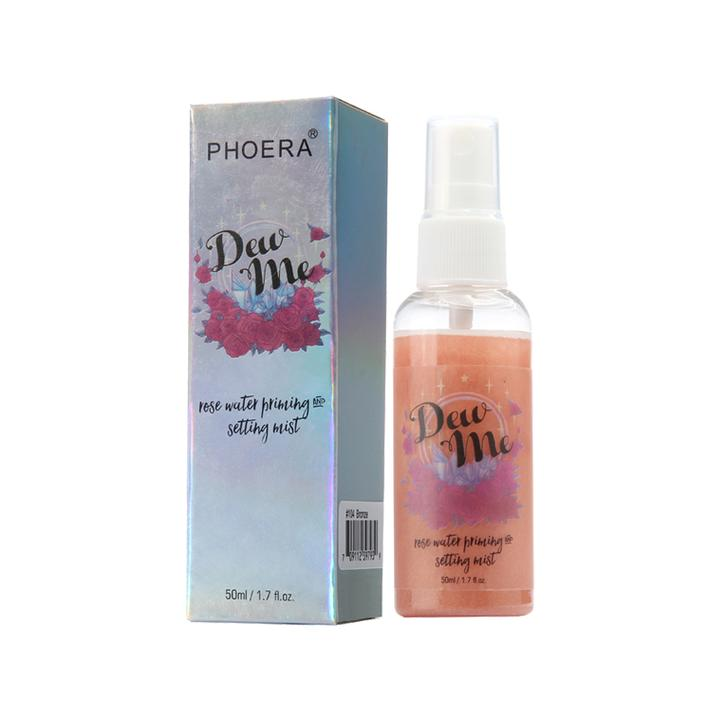 PHOERA DEW ME ROSE GOLD SETTING MIST SPRAY FACE MAKE UP