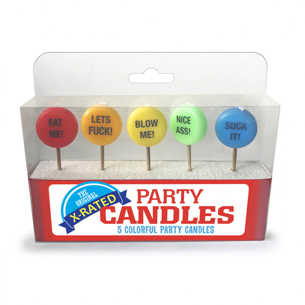 X-Rated Party Candle - 5pk