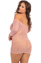 Load image into Gallery viewer, Demure Long Sleeve Mini Dress - Rose